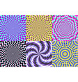 psychedelic spiral optical delusion vector image