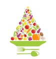 Pyramid of Vegetables and Fruits vector image vector image
