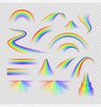 rainbow spectrum set vector image vector image