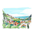 remarkable georgian landscape sketch colorful vector image