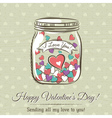 romantic card with cup of hot drink and wishes tex vector image vector image