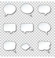 round paper speech and think bubbles set vector image vector image