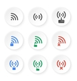 set icons wireless connections vector image