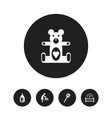 set of 5 editable kid icons includes symbols such vector image