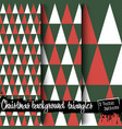 Set of christmas backgrounds from triangles