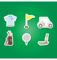 set of color with golf icons vector image vector image