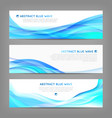 Set of wavy soft banners vector image vector image