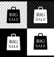 shoping bag with an inscription big sale icon vector image vector image