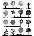 silhouettes of trees vector image vector image