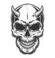 skull in vintage stule vector image vector image