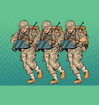squad modern cyber soldier vector image