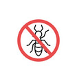 stop pest logo icon sign vector image