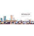 subway train over modern city panorama high vector image
