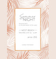 summer night poster template tropical vector image vector image