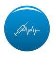 syringe icon blue vector image