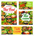 thai cuisine asian dishes banners set vector image vector image