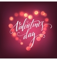 Valentines Day card with Glowing lights heart vector image vector image