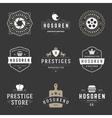 Vintage Logos Design Templates Set design vector image vector image
