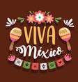 viva mexico lettering vector image vector image