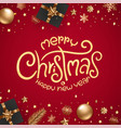 winter season holidays greeting card with golden vector image