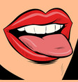 woman sexy tongue vector image vector image