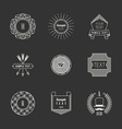 Set of Hipster Vintage Labels Logotypes Insignias vector image