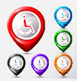set of map location disabled icon sign vector image