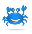 Hand Drawn Blue Crab vector image