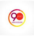 90 anniversary circle logo vector image vector image