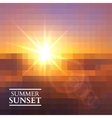 abstract summer sunset background vector image vector image