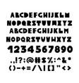alphabet in scandinavian style vector image vector image