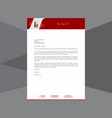 artistic letterhead in velvet red tone vector image