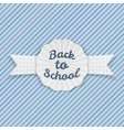 Back to School Sale Emblem with Ribbon and Shadow vector image vector image