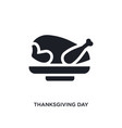 black thanksgiving day isolated icon simple vector image vector image