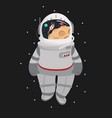 cartoon astronaut helmet in a space vector image