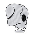 cartoon skull bone fantasy character vector image vector image