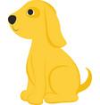 cartoon yelow dog vector image