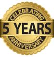 celebrating 5 years anniversary golden label