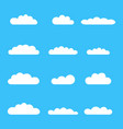 clouds icon set different cloud shapes isolated vector image
