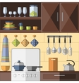 Cooking tools and items set vector image