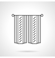 Cotton curtains flat line icon vector image vector image