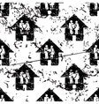 Couple house pattern grunge monochrome vector image vector image