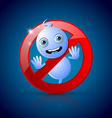 Cute ghost prohibition sign vector image