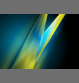 dark blue and yellow abstract shiny background vector image vector image