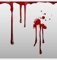 dripping blood and set vector image