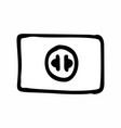 electrical outlet vector image