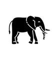 elephant black glyph icon vector image