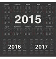 European circle calendars 2015 2016 2017 vector image vector image