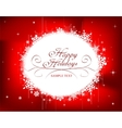 Festive Christmas frame vector image vector image