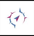 flat creative compass logo concept design template vector image vector image